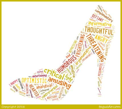 words woman's shoe